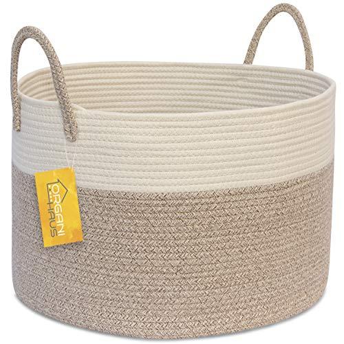OrganiHaus XXL Extra Large Cotton Rope Basket | 20