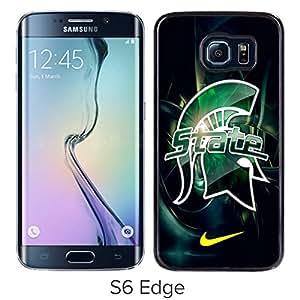 Popular Samsung Galaxy S6 Edge Case ,Michigan State Spartans 01 Black Samsung Galaxy S6 Edge Screen Case Hot Sale And Fashionable Designed Cover Case