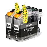 PERSEUS LC2032pks Compatible fit Brother LC203BK XL LC201 Black Ink Cartridge High Yield (Pack of 2), LC2012pks LC201BK
