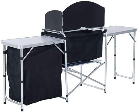 Tovendor Mesa de Cocina portátil para Camping, Mesa de ...