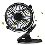 BapUp Portable 2 Gear Rocker Switch Mini Desk Fan Clip-on Quiet Table Fan USB Powered Cooling Flexible Computer Fan for PC Laptop