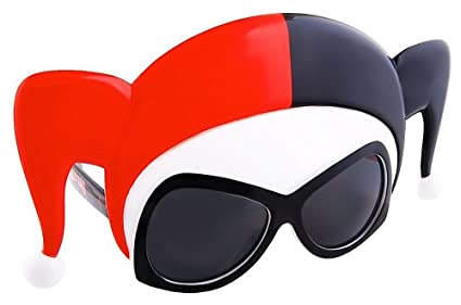 ac1b1fefb28e Amazon.com  Sunstaches DC Comics Harley Quinn Sunglasses
