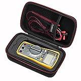 RLSOCO Carrying case for Fluke 117/115/116/114/113 Digital Multimeter and Fluke 87V 88V F15B+F17B+F18B+, Neoteck Pocket Digital Multimeter, Crenova MS8233D, Extech EX330 and more(With DIY Foam)