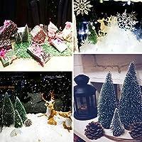 Árbol de Navidad 5 piezas de nieve pequeña de árboles de escarcha ...