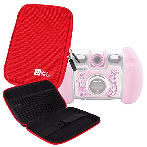 "Price comparison product image DURAGADGET Red 7"" Water Resistant Case with Soft Lining Compatible with - Kidizoom Twist,  Kidizoom Video Camera,  Kidizoom Disney Princess,  Kidizoom Toy Story 3,  Kidizoom Lightning McQueen"