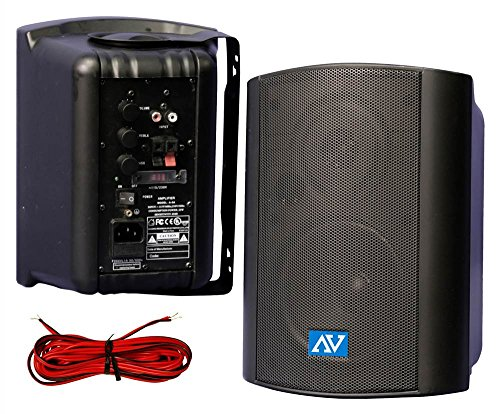 Powered Wall or Ceiling Mount Stereo Speakers by Amplivox