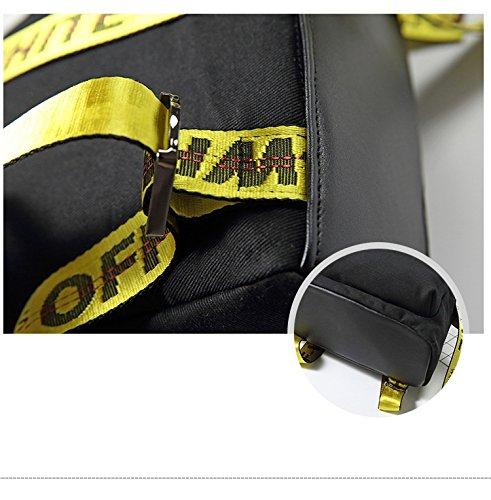 Diudiul - Bolso mochila  de Oxford para mujer negro negro