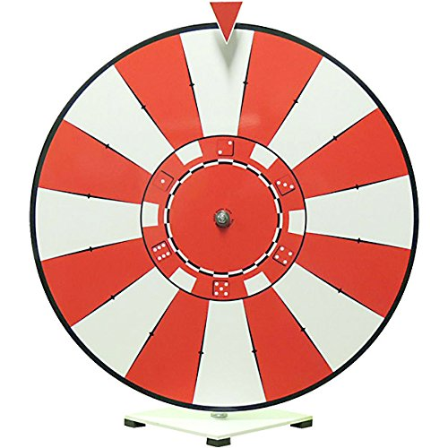 Dry Erase Tabletop Prize Wheel - Poker Chip Face by KegWorks