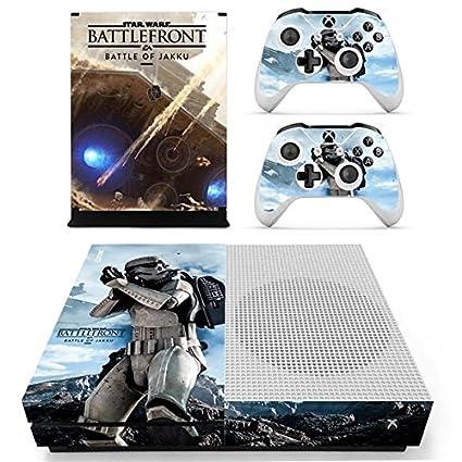 XBox One Slim + 2 Controller Aufkleber Schutzfolien Set - Star Wars Battlefront /One S