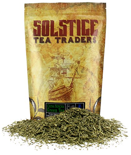 Solstice Loose Leaf Sencha Green Tea, 1 LB, Bulk 16-Ounces Japanese Style Green Sencha Tea - Approx 200+ Cups