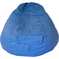 Gold Medal Bean Bags 31008484935 Small Denim Bean Bag with Pocket for Children, Dark Blue Jean