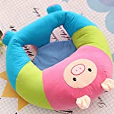 Lecent@ Lovely Cartoon Infant Safe Sitting Chair Comfortable Nursing Pillow Protectors for 3-12 Months (Pink pig)