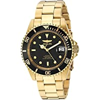 Invicta Pro Diver Japanese Automatic Mens Watch (Gold/Black)