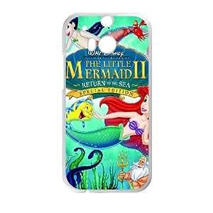 HTC One M8 White phone case Classic Style Disney Cartoon Little Mermaid II Return to the Sea OBN8950666