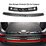Chebay Fits for Jeep Compass 2017 2018 2019 Rear Bumper Plate Cover Bar Sill Trim Protector