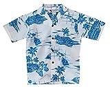 #10: Make in Hawaii Boy's Hawaiian Islands Map Cruise Luau Hawaiian Aloha Shirt