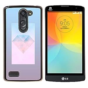 YiPhone /// Prima de resorte delgada de la cubierta del caso de Shell Armor - la joya del diamante joya del arte día polígono - LG L Prime D337 / L Bello D337