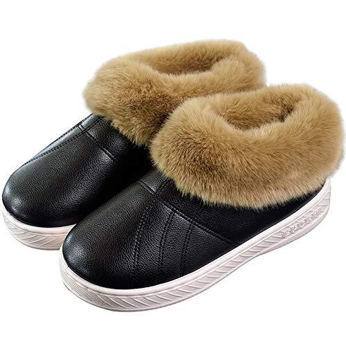 Caldo Wxmtxlm Velvet Plus Mezza Età Uomini Pu 38 Di Help High nbsp; In Borsa Impermeabile Cotone Indoor Donne Inverno Scarpe Pantofole E Pelliccia Donna Home Con zzawfqBZr