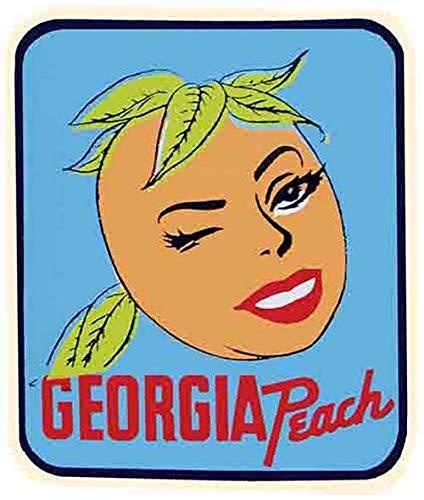 (Georgia Peach Vintage Decal Sticker Souvenir )