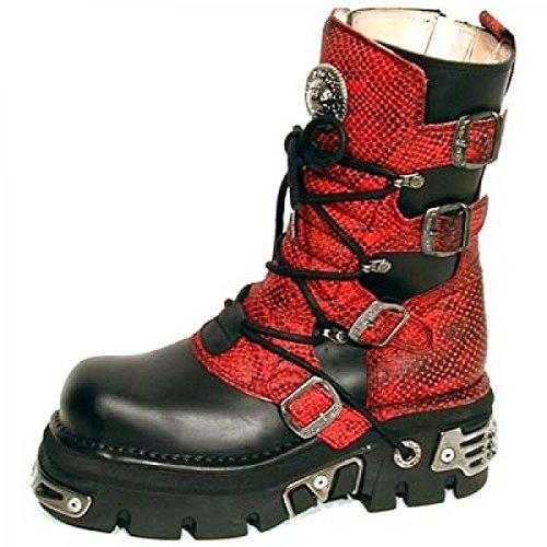 New Rock Boots M.373-c11 Gotico Hardrock Punk Damen Stiefel Schwarz
