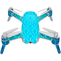 Skin For Yuneec Breeze 4K Drone – Blue Vintage | MightySkins Protective, Durable, and Unique Vinyl Decal wrap cover | Easy To Apply, Remove, and Change Styles | Made in the USA