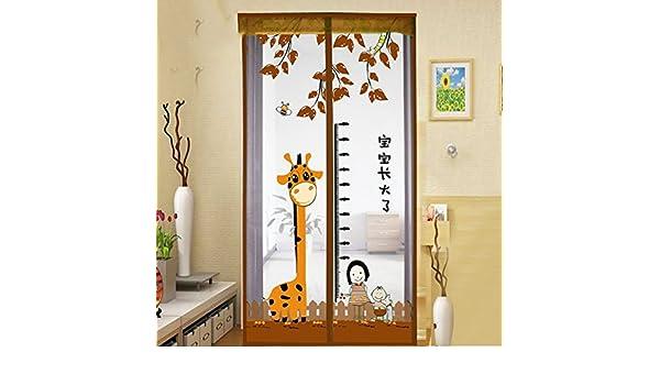 LJ&XJ Cortina de Malla Puerta Tela Anti-Mosquitos,Velcro Dormitorio Cocina Verano Mute Partición magnético Cortina Decoración Puerta de Pantalla-B 80x190cm(31x75inch): Amazon.es: Hogar