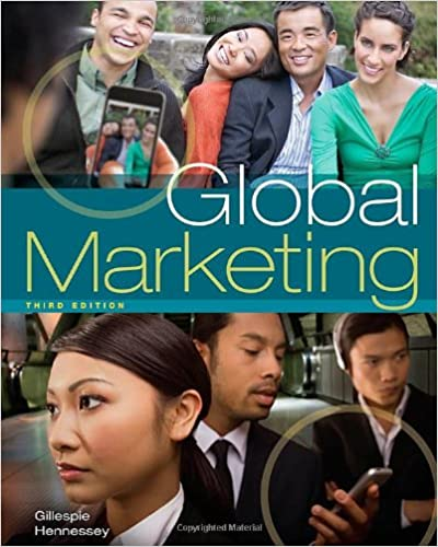 Global marketing kate gillespie h david hennessey 9781439039434 global marketing 3rd edition fandeluxe Gallery