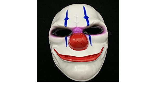Amazon.com: PVC Scary Clown Mask Payday 2 Halloween Mask For Antifaz Party Mascara: Toys & Games