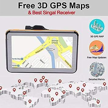 Shumo /écran de R/ésistance du Navigateur GPS de Voiture de 5 Pouces /écran de Pression Appareil de Navigation de Conduite de Voix 8G 256Mb Mp3//Mp4 Carte de LAfrique