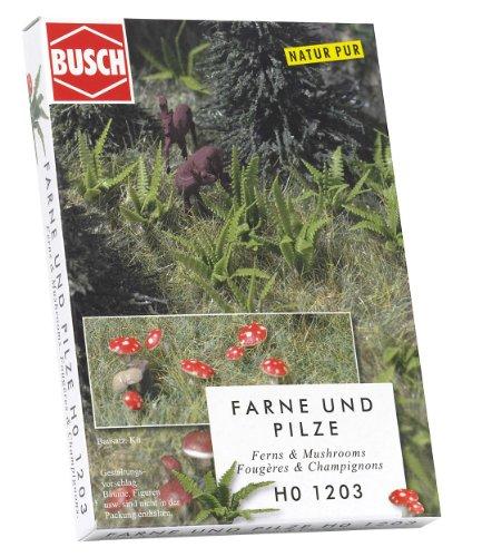 Busch 1203 Ferns & Mushrooms 48/ HO Scenery Scale Model Scenery