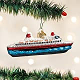 Old World Christmas Cruise Ship Glass Blown Ornament