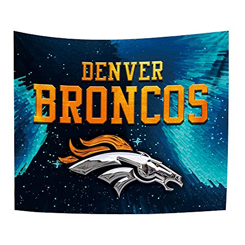 Gloral HIF Denver Broncos Tapestry Home Decoration Bedroom Blanket 50x60 Inches ()