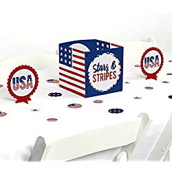 Big Dot of Happiness Stars & Stripes - 2018 Elections USA Patriotic Party Centerpiece & Table Decoration Kit