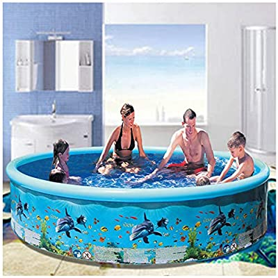 SNOWSONG Family Inflatable Swimming Pool, Full-Sized Inflatable Lounge Pool for Baby, Kiddie, Kids, Adult, Infant, Toddlers ,Outdoor & Indoor, Garden, Lawn, Summer Water Party (72 x 14.9 inch, Blue): Toys & Games
