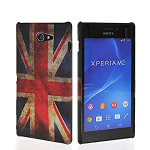 FCKASE UK British Flag Duro Carcasa Funda Caso Tapa Case Cover Para Sony Xpreia M2