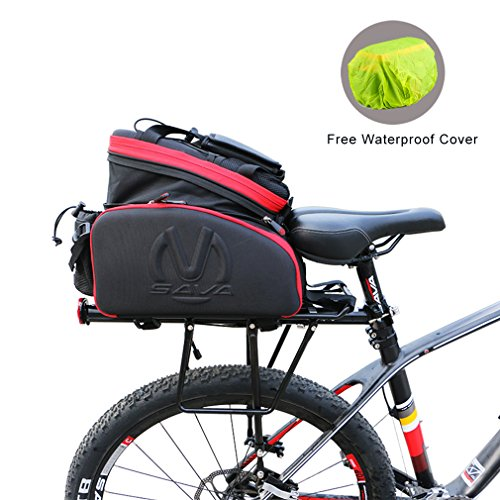d569334b8ce SAVADECK Multi Function Excursion Cycling Bicycle Bike Rear Seat Trunk Bag  Carrying Luggage Package Shoulder Handbag