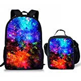 Showudesigns Kids Schoolbag Set School 17inch Backpack Bookbag Satchel + Lunch Box for Student