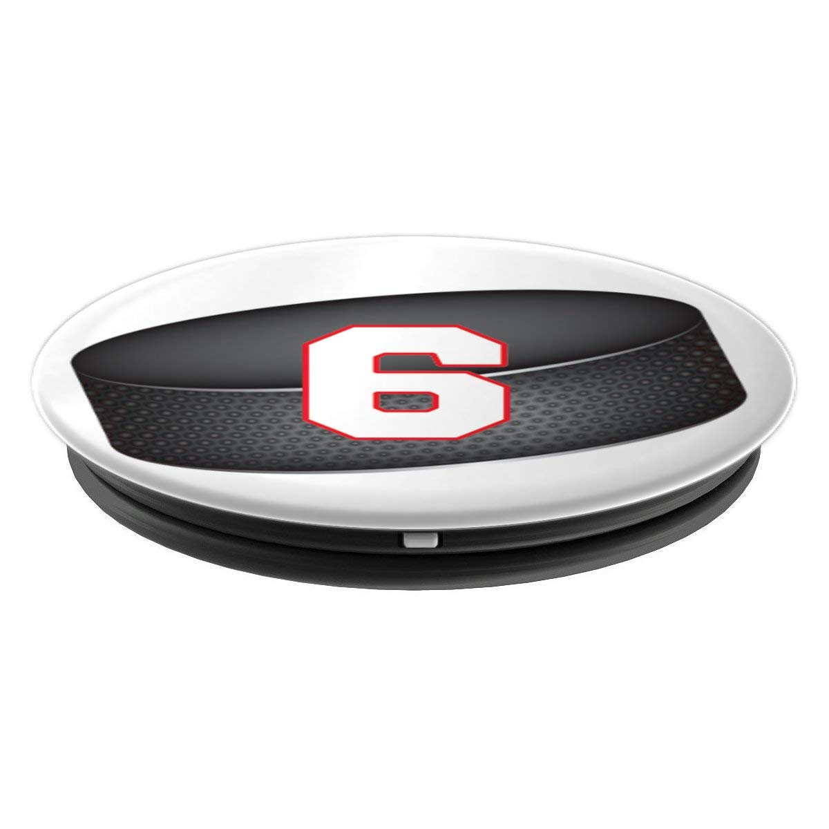 Amazon.com: Hockey Jersey #6 Design - PopSockets Grip and Stand for Phones and Tablets: Cell Phones & Accessories