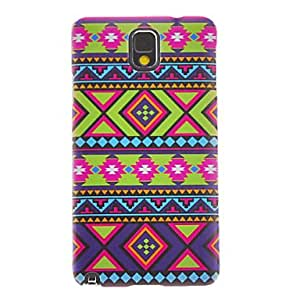 Buy Colorful Weaving Cotton Cloth Smooth Painting Pattern Protective Hard Back Cover Case for Samsung Galaxy Note3 N9006
