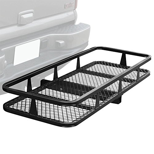 (Apex HCB-4818 48' Basket Style Bumper Cargo Hitch Carrier with a 500 lb. Capacity)