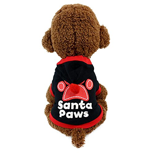 Clearance Sale! Puppy Hoodie Cinsanong Fashion New Footprints Christmas Lovely Dog Clothes