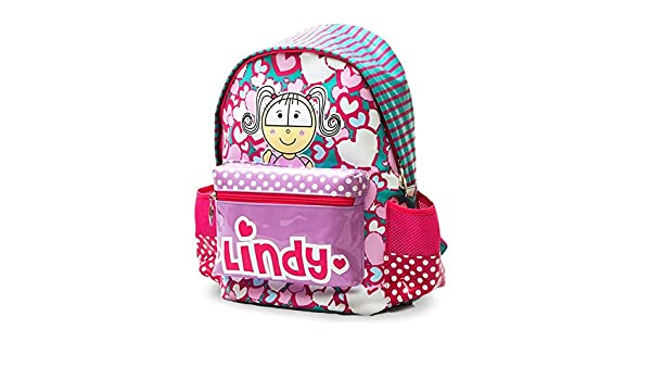 Amazon.com  Lindy Hearts And Dots Shinny School Backpack for Girls - Lindy  And Friends Backpacks  Everything Else 1e5ec8db22201