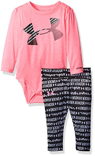 Under Armour Baby' Long Sleeve Tee and Legging Set, Pink Punk, 9-12 Months