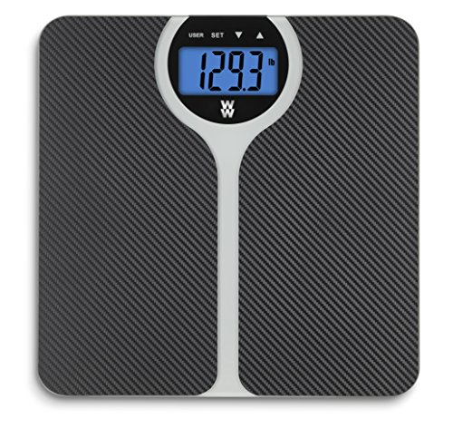 WW Scales by Conair Carbon Fiber Design BMI Bathrom Scale - Shows BMI (body mass index) for 4 users, 400 lb. capacity
