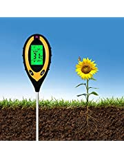 Cozzy Tree Soil PH Meter, 4-in-1 Soil Tester Moisture, Digital Plant Thermometer Test, Moisture Meter Light and PH Tester for Potted Plants, Gardens, Farm, Lawn, Indoor and Outdoor