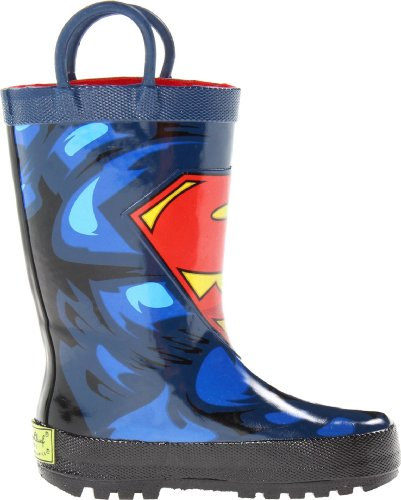 Western Chief Boys Printed Rain Boot, Superman Forever, 13 M US Little Kid