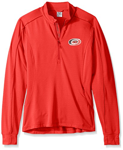- Levelwear NHL Carolina Hurricanes Adult Women Women's Pacer Strong Script Half Zip, Large, Flame Red