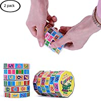 Aisikasi 2 Pack Children Education Learning Magnetic Math Toys for Kids Puzzle Cube Add Subtract Multiply and Divide Toy Children Magnetic Math Toy for Intelligence Development