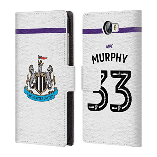 Wallet Compact Murphy (Official Newcastle United FC NUFC Murphy 2016/17 Players Third Kit 2 Leather Book Wallet Case Cover For Huawei Y6 II Compact)