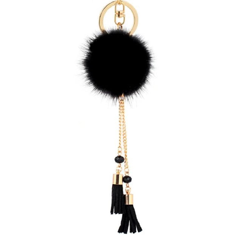 Shuohu Cute Fur Ball Keychain for Car Key Ring Handbag Tote Bag Pendant Charm